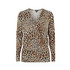 Dorothy Perkins - Brown leopard print wrap top