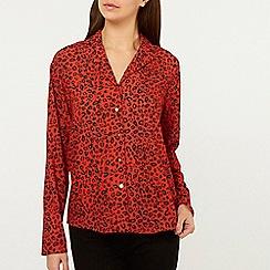 Dorothy Perkins - Red Animal Print Pyjama Shirt