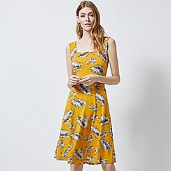 Dorothy Perkins - Tall Yellow Palm Print Dress