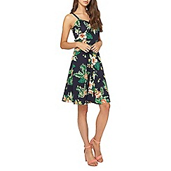 Dorothy Perkins - Tall black tropical print tie camisole dress