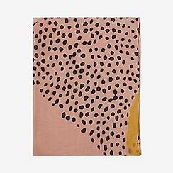 Dorothy Perkins - Orange spot and animal print scarf