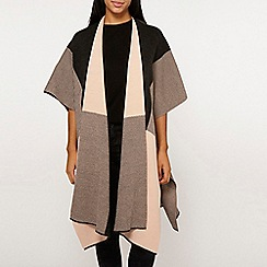 Dorothy Perkins - Check and stripe cape