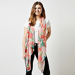 Dorothy Perkins - Multi Colour Floral Palm Print Scarf