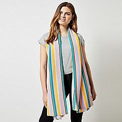 Dorothy Perkins - Multi Colour Silky Plisse Stripe Print Scarf