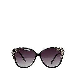 Dorothy Perkins - Black flower temple sunglasses