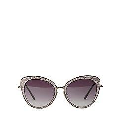 Dorothy Perkins - Black glitter cateye sunglasses