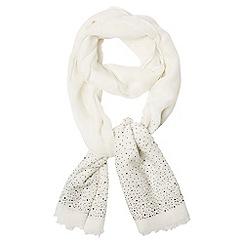 Dorothy Perkins - Ivory rhinestone scarf