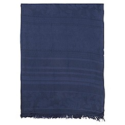 Dorothy Perkins - Navy plain clipped scarf