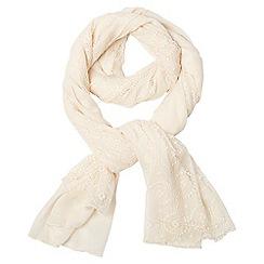 Dorothy Perkins - Cream fine lace scarf