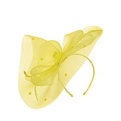 Dorothy Perkins - Lemon spot bow fascinator