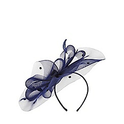 Dorothy Perkins - Showcase navy spot bow crin fascinator