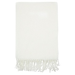Dorothy Perkins - Cream fluffy scarf
