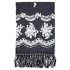 Dorothy Perkins - Navy lace blanket scarf