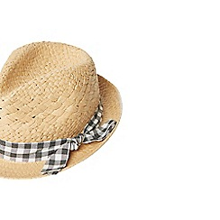 Dorothy Perkins - Multi coloured gingham band trilby hat