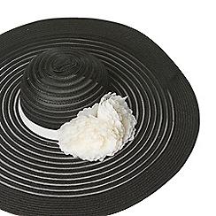 Dorothy Perkins - Black occasion floral floppy hat