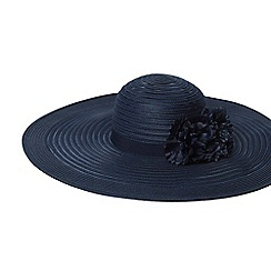 Dorothy Perkins - Navy occasion floral floppy hat