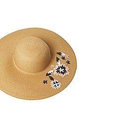 Dorothy Perkins - Coral raffia floppy hat