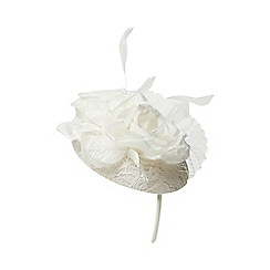 Dorothy Perkins - Ivory bridal pillbox fascinator