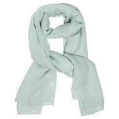 Dorothy Perkins - Mint seahorse foil scarf