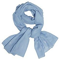 Dorothy Perkins - Blue anchor glitter scarf