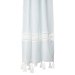 Dorothy Perkins - Blue striped lace insert scarf