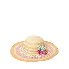 Dorothy Perkins - Coloured raffia pom hat