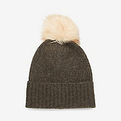 Dorothy Perkins - Grey pieces dark wool pom hat