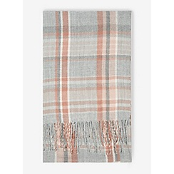 Dorothy Perkins - Grey and pink checked scarf