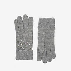 Dorothy Perkins - Grey pearl embellished gloves