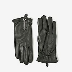 Dorothy Perkins - Grey scallop leather gloves