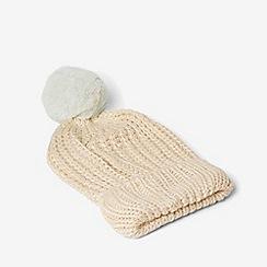 Dorothy Perkins - Cream and mint pom pom beanie hat