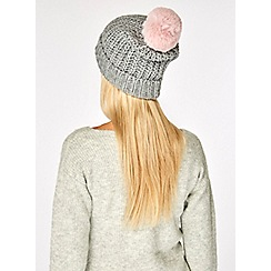 Dorothy Perkins - Grey super soft pom hat