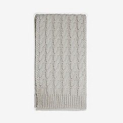 Dorothy Perkins - Grey cable knit scarf