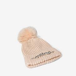Dorothy Perkins - Pink embellished trim hat