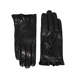 Dorothy Perkins - Black frill leather gloves