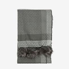 Dorothy Perkins - Grey pom pom edge scarf