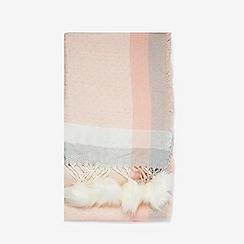 Dorothy Perkins - Cream and pink pom pom edge scarf