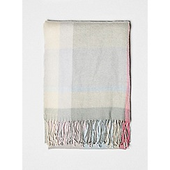 Dorothy Perkins - Blue and pink pastel checked scarf