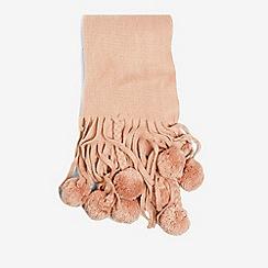 Dorothy Perkins - Pink pom pom and plaits scarf