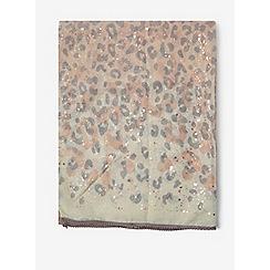 Dorothy Perkins - Rose gold leopard foil scarf