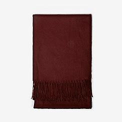 Dorothy Perkins - Wine plain acrylic scarf