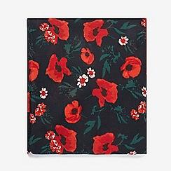 Dorothy Perkins - Navy poppy boarder scarf
