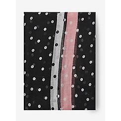 Dorothy Perkins - Black polka dot scarf