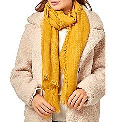 Dorothy Perkins - Mustard plain textured scarf