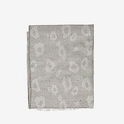 Dorothy Perkins - Grey leopard jacquard scarf