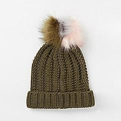 Dorothy Perkins - Khaki polylana pom pom hat
