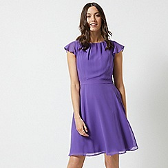 Dorothy Perkins - Billie & Blossom Purple Chiffon Belted Skater Dress