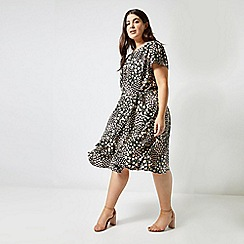 Dorothy Perkins - Billie & Blossom Curve Black Ditsy Print Dress