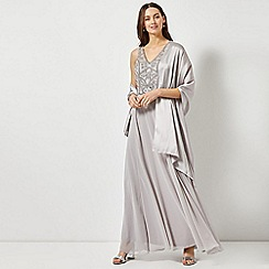 Dorothy Perkins - Showcase Silver Satin Wrap Cover Up