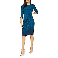 Dorothy Perkins - Lily & Franc blue scattered spot print ruched shift dress